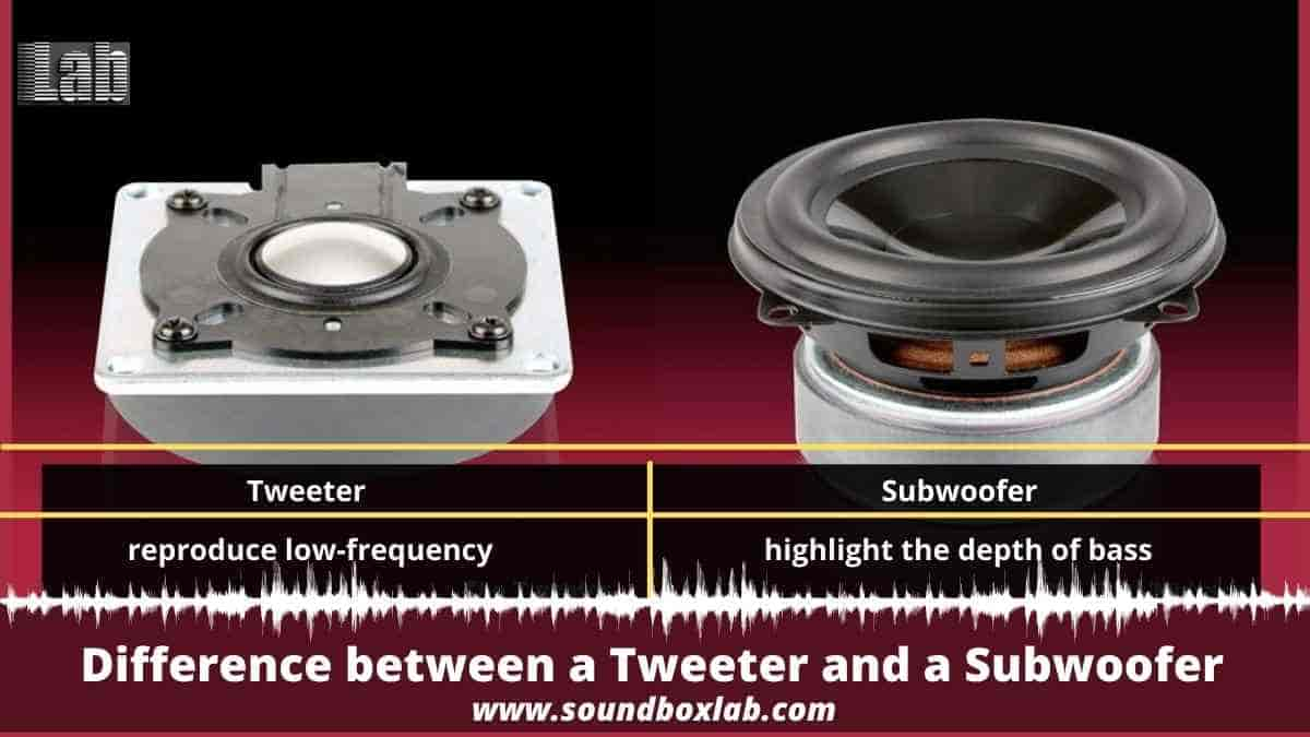 Difference between a Tweeter and a Subwoofer-soundboxlab.com