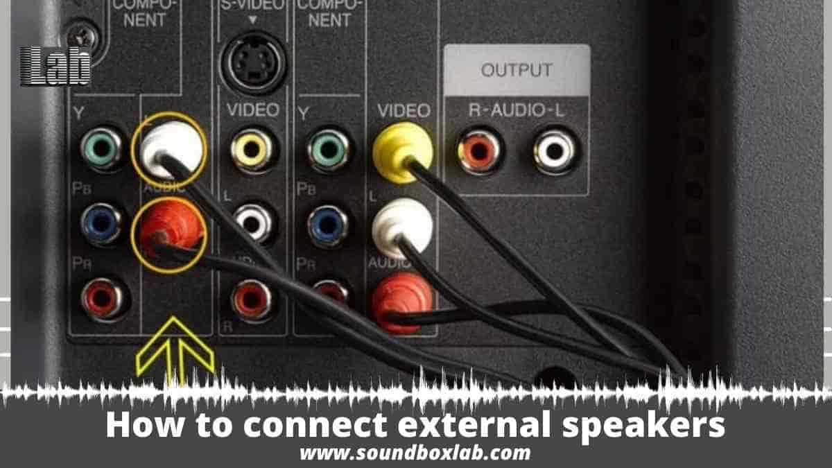 How to connect external speakers to the TV without audio output