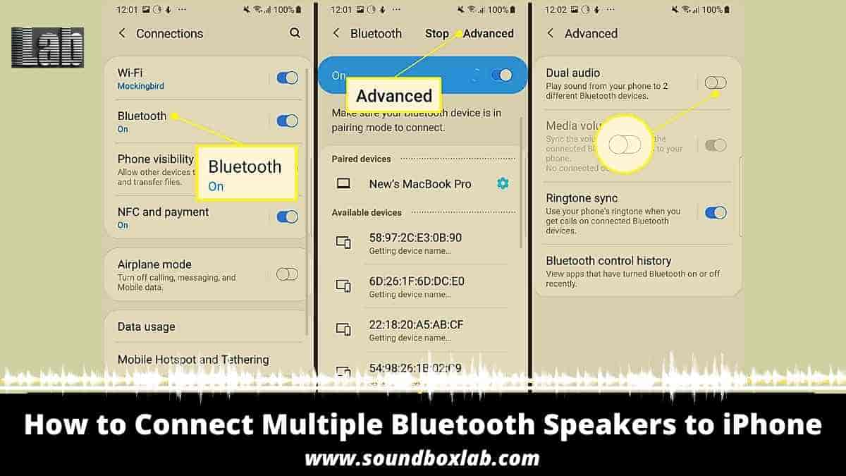 How to Connect Multiple Bluetooth Speakers to iPhone For Any Bluetooth Speakers