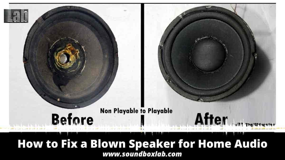 How to Fix a Blown Speaker for Home Audio