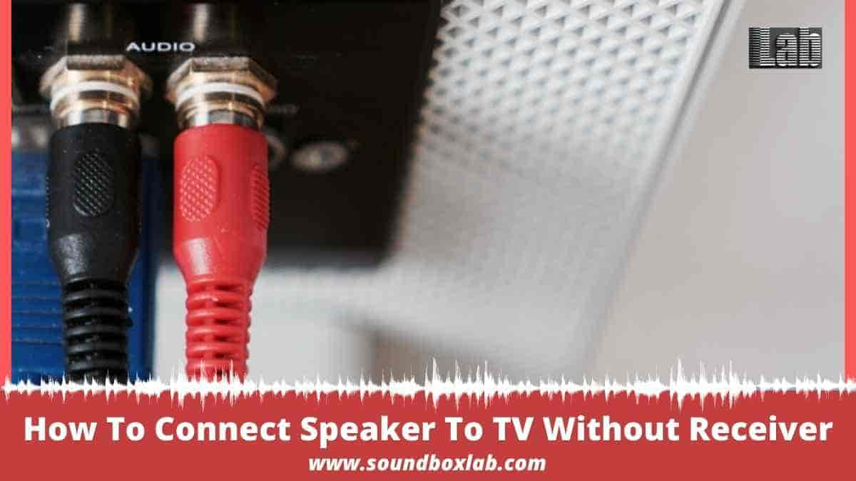 How To Connect Speaker To TV Without Receiver