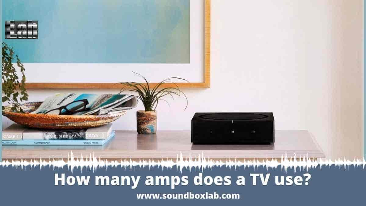 How many amps does a TV use